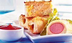Receita de Salsicha Empanada - Docinho e salgadinho - Dificuldade: Fácil - Calorias: 223 por porções