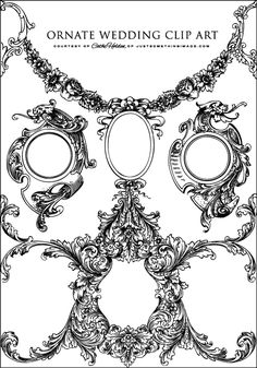 So I don't need it for a wedding, but I do like the ornate graphics... and that they're free.