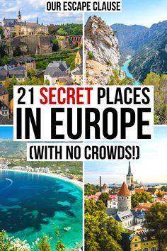 Hoping to visit Europe, but want to get off the beaten path and avoid heavy crowds? Consider one of these epic destinations! europe off the beaten path Places In Europe, Best Places To Travel, Cool Places To Visit, Europe Europe, European Vacation, European Destination, European Travel, Voyage Europe, Europe Travel Guide