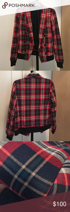 Reese + Riley plaid jacket (Like New) Reese + Riley plaid jacket Reese+Riley Jackets & Coats