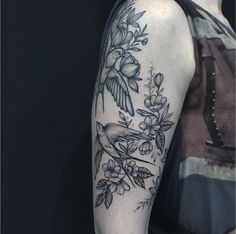 Anna Bravo #tattoo #artist #flowers #birds