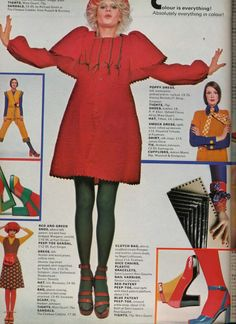 Barry Lategan, Donna Jordan in a Harvey Nichols dress, from Vogue UK, March 1972