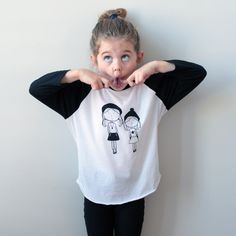 Kids / Toddlers Black and White Unisex Baseball Tee Poly/Cotton Raglan - Charlie and Alex by twolittleladybugs15 on Etsy