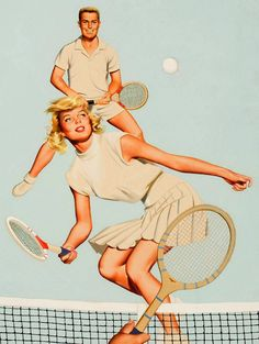 tennis poster Vintage Tennis, Vintage Boys, Retro Vintage, Pinup, Tennis Posters, Sports Posters, Tennis Party, Tennis Elbow, Tennis Clothes