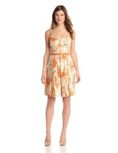 Julian Taylor Women's Floral Print Cotton Sateen Dress, Tan/Orange, 8 Missy Julian Taylor,http://www.amazon.com/dp/B00AA9ZCI6/ref=cm_sw_r_pi_dp_n4GQsb1S3KK261K1