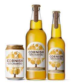 Cornish Orchards Refresh on Packaging of the World - Creative Package Design Gallery Food Packaging Design, Beverage Packaging, Coffee Packaging, Bottle Packaging, Album Design, Cider Press, Beer Wedding, Chocolate Packaging, Root Beer
