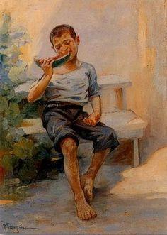 Γεραλής Λουκάς Αγόρι με καρπούζι