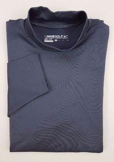 c4798bbf Details about NIKE Golf SMALL Shirt MOCK Neck GRAY Turtleneck MENS Size DRI  Fit PRO Combat SZ