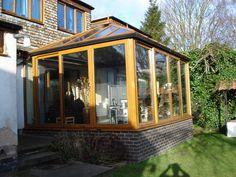 Wood Effect Edwardian Conservatory