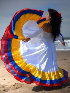 with colors of the Colombian flag! Colombian People, Colombian Culture, Colombian Girls, Colombian Flag, Colombia South America, Latin America, Travel Around The World, Around The Worlds, Ecuador