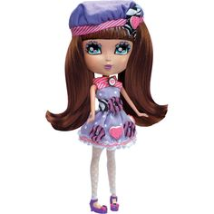 "Cutie Pops Doll, Cookie. Cutie Pops Doll, Cookie: Fashion doll Changeable eyes and hair Changeable style pops Accessories: 1 outfit 1 hair brush 2 sets of eyes (opened and closed) 1 set of shoes 2 sets of hair 4 hair bows 10 style pops Dimensions: 3.5""L x 11.5""W x 13""H. Price: $19.97"