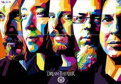 dream theater on WPAP☆ Play That Funky Music, Kinds Of Music, Vintage Tin Signs, Vintage Posters, Pop Art, Dream Theater, Theatre, Heavy Metal Music, Progressive Rock