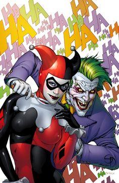 Joker Harley Quinn colors, in todd erwin's Shane Davis Comic Art Gallery Room Comic Villains, Comic Book Characters, Comic Character, Comic Books Art, Comic Art, Der Joker, Joker Art, Joker Pics, Dc Comics