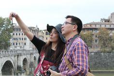 Selfie near Castel Sant'Angelo