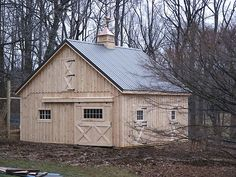 Affordable Small Horse Barn - hell I would live in it!