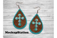 Leather Earrings, Leather Jewelry, Old Rugged Cross, Turquoise, Flower Frame, Teardrop Earrings, Diy Jewelry, Jewlery, Design Bundles