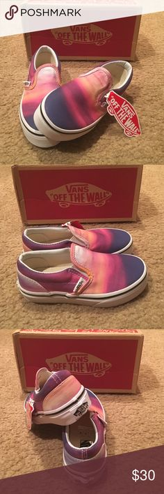 Girls Vans Classic slip-ons New in box. Sunset/purple/true white. Vans Shoes Sneakers