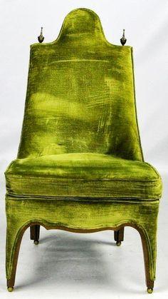 chartreuse velvet chair
