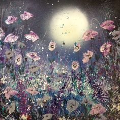 ARTFINDER: You light up my world by Jane Morgan - Gorgeous rich colours are lit up in this painting by the moon. I have used pearlescent and glitter along with inks and acrylic paint. The sides are painted b...