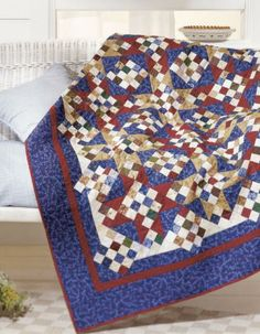 Fortunes in Fabric Color placement is the challenge in this versatile quilt pattern. It works well in both bold and subtle hues.