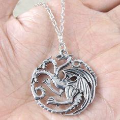 Game Of Thrones Daenerys Targaryen Dragon Necklace