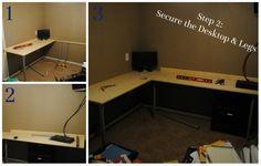Step 3: Secure the Desktop & Legs