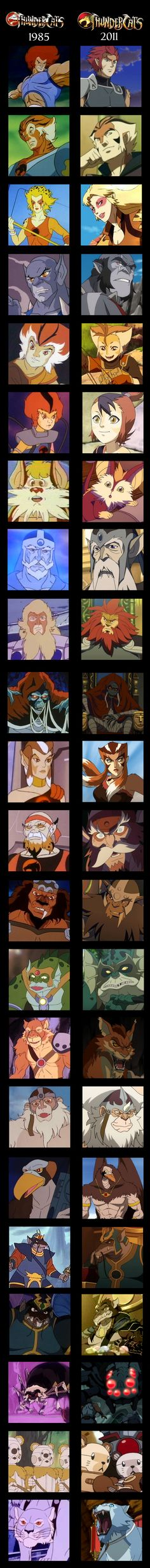 Thundercats 1985 and 2011 Comparison by Ilona-the-Sinister.deviantart.com on @deviantART #1980s #cartoons