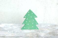 Christmas tree  wooden christmas tree decor green by PapaAngel