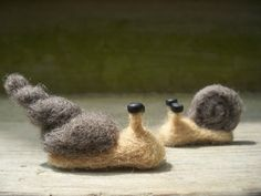Two snails Alfred and Gazpacho by barefootbananas on Etsy, $16.00