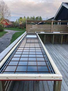 Outdoor Kitchen Patio, Outdoor Living, Beton Diy, Wooden Decks, Roof Deck, Outdoor Cooking, Outdoor Furniture, Outdoor Decor, Pergola