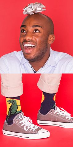 He doesn't take himself too seriously, he's always making everyone laugh, and he never really wants to grow up. The Kid at Heart can't have too many Converse sneakers or silly socks. Gifts Under $50: Converse Chuck Taylor All Star Sneakers. Gifts Under $25: Sock It To Me TRex Men's Dress Socks.
