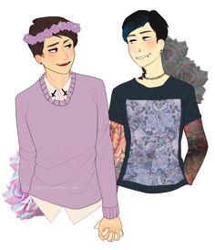 Dan and Phil punk edits irl fan art<<<<<ermahgurd dan and phil!!!!!<<<<<omg it's beautiful