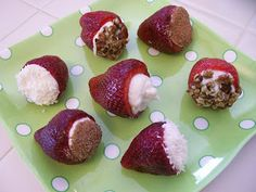 Shelly's Strawberry Cannoli - #Healthy #Recipes #Strawberry