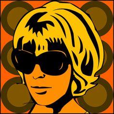 Seventies-Girl Retro Lounge Design Bild Foto Poster 60er 70er Jahre Porträts | eBay