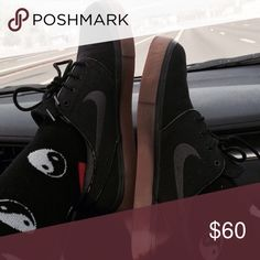 free shipping 4ef29 3d9ba Nike Janoski Black Sneakers All black . Amazing condition unisex Nike Shoes  Sneakers Sorte Sneakers,
