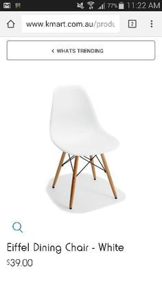 Dining Table - White   Kmart (119cm) - $79   Dining ideas ...