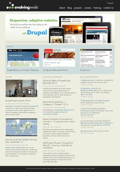Evolving Web is a Montreal-based team of Drupal experts. We provide consulting, development, and training services to guide our clients to success. Career Training, Drupal, Website, Landing