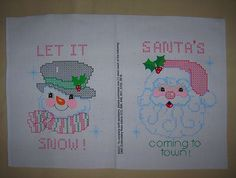 Stamped Cross Stitch Christmas Samplers