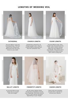 LENGTHS OF WEDDING VEIL | ROCK MY WEDDING | WEDDING VEIL | WEDDING ACCESSORIES | BRIDAL VEIL | BRIDE VEIL | VEIL FOR BRIDE | LACE VEIL | CATHEDRAL VEIL | TIERED VEIL | BRIDE DRESS | TWO TIER VEIL | DROP VEIL | FLOOR LENGTH VEIL | SHORT VEIL | LACE EDGE VEIL | SATIN EDGE VEIL Bridal Hair Accessories, Bridal Jewelry, Types Of Veils, Veil Length, Wedding Veils, Indian Bridal, Tulle, Bride, Fashion