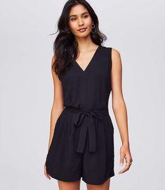 Shop LOFT for stylish women's clothing. You'll love our irresistible Tie Waist V-Neck Romper - shop LOFT.com today!