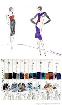 Figurines de moda de la colección dedicada al arte surrealista de YVES SAINT LAURENT - Gracias a la Fondation Pierre Bergé - Yves Saint Laurent
