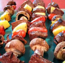 Caribbean Shish Kabobs by Patti LaBelle Kebab Recipes, Beef Recipes, Healthy Recipes, Shish Kabobs, Steak Kabobs, Caribbean Recipes, Caribbean Food, Patti Labelle Recipes, I Chef