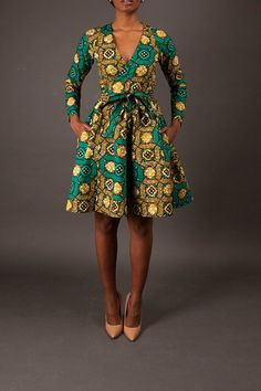 NEW The Diane Wrap Dress. African print deep v neck dress. (Affiliate)