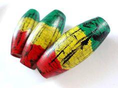 One Large Tribal Immunity Handpainted Rasta Roots Reggae