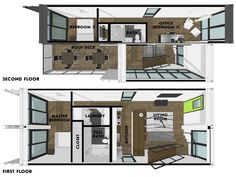 Foxworth Architecture - Container House 2 - Louisville, KY (Floor Plans)