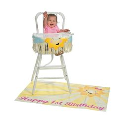 My Sunshine Birthday High Chair Decorating Kit Party Supplies Canada - Open A Party Girl First Birthday, Birthday Diy, First Birthday Parties, Birthday Ideas, Birthday Cards, High Chair Decorations, Sunshine Birthday Parties, First Birthday Party Decorations, Happy 1st Birthdays