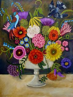 Catherine Nolin Art Studio...I love all of the color she puts into her paintings!
