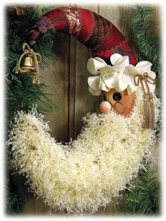 Crescent Santa wreath