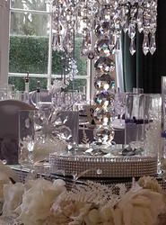 Crystal Chandelier Table Centres
