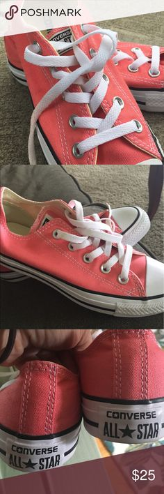 NWOT Women's ConVerse ALL sTAr sneakers size 6 nWOT never worn, tangerine color. My daughter has too many, a great find for the right person! Converse Shoes Sneakers